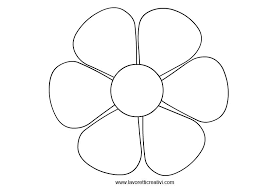 Fiore 6 petali sagome flowers e coloring pages for Fiori grandi da colorare