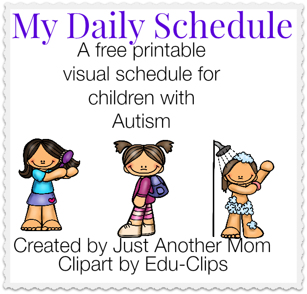 My Daily Schedule: A free printable visual schedule