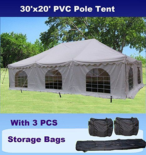 Special Offers Cheap 30x20 Pvc Pole Tent Heavy Duty Wedding Party Canopy Shelter With Storage Bags By Delta Canopies In Stock Free Shipping