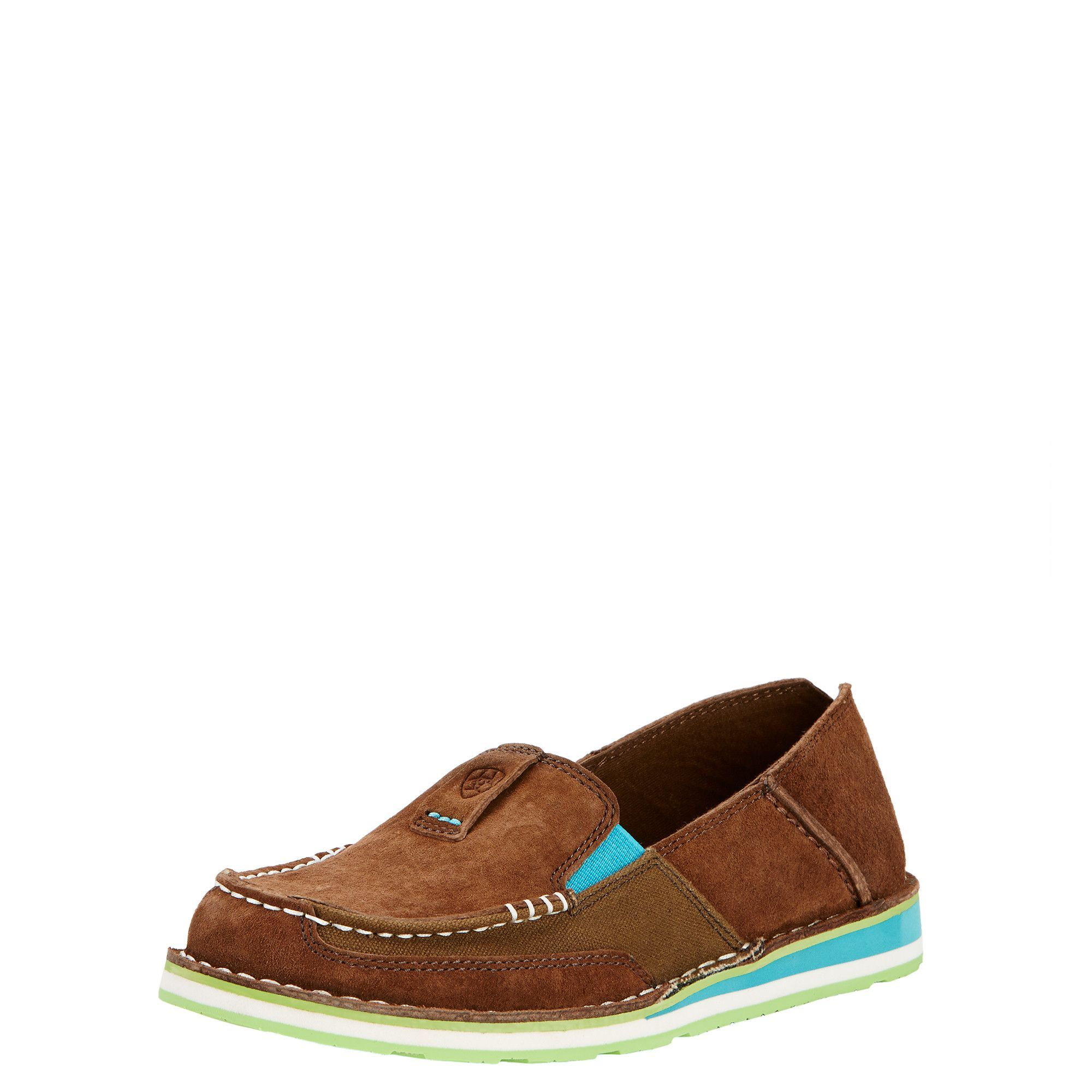 Ariat Casual Shoes Womens Cruiser Slip On EVA Panels Brown 10017457