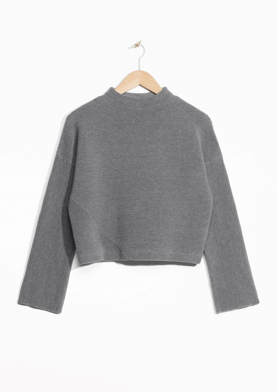 Other Stories image 1 of Ribbed Sweater in Grey