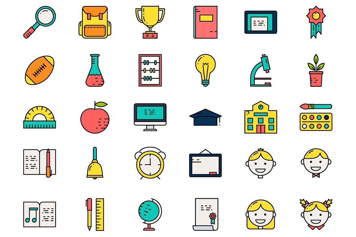 Education Icons Set Education Icon Icon Set Education