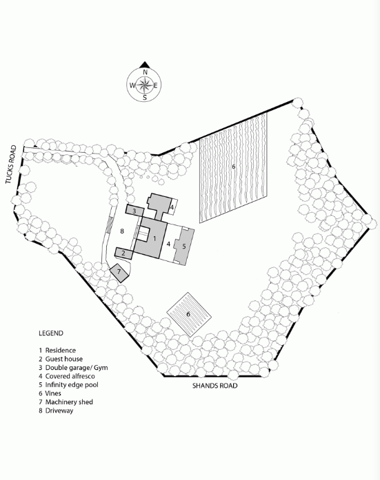 Australian Vineyard site plan