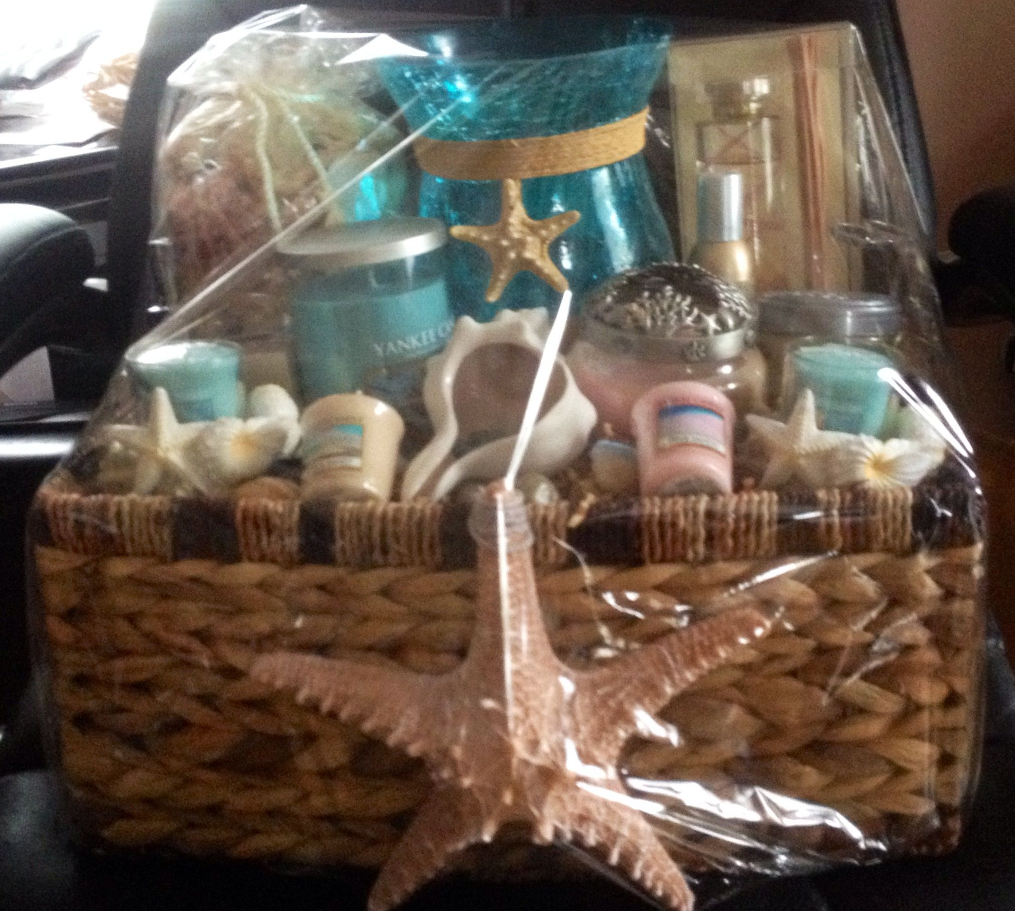 Fundraiser Games: Yankee Candle Beach Themed Raffle Basket I Made For Sons