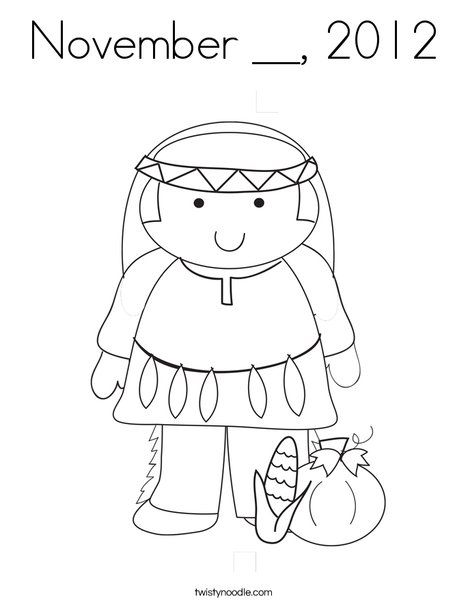Thanksgiving Coloring Page - TwistyNoodle.com | Coloring ...