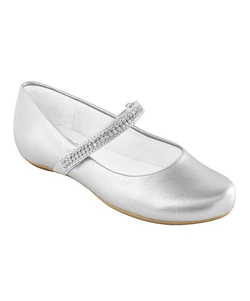 Look at this Pampili Silver Rhinestone-Strap Mary Jane on #zulily today!