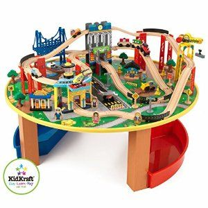 KidKraft City Explorer Wooden Train Set \u0026 Play Table w/ 80 Toy Pieces  sc 1 st  Pinterest & wooden train set instructions - Google Search | Aedel\u0027s trains ...