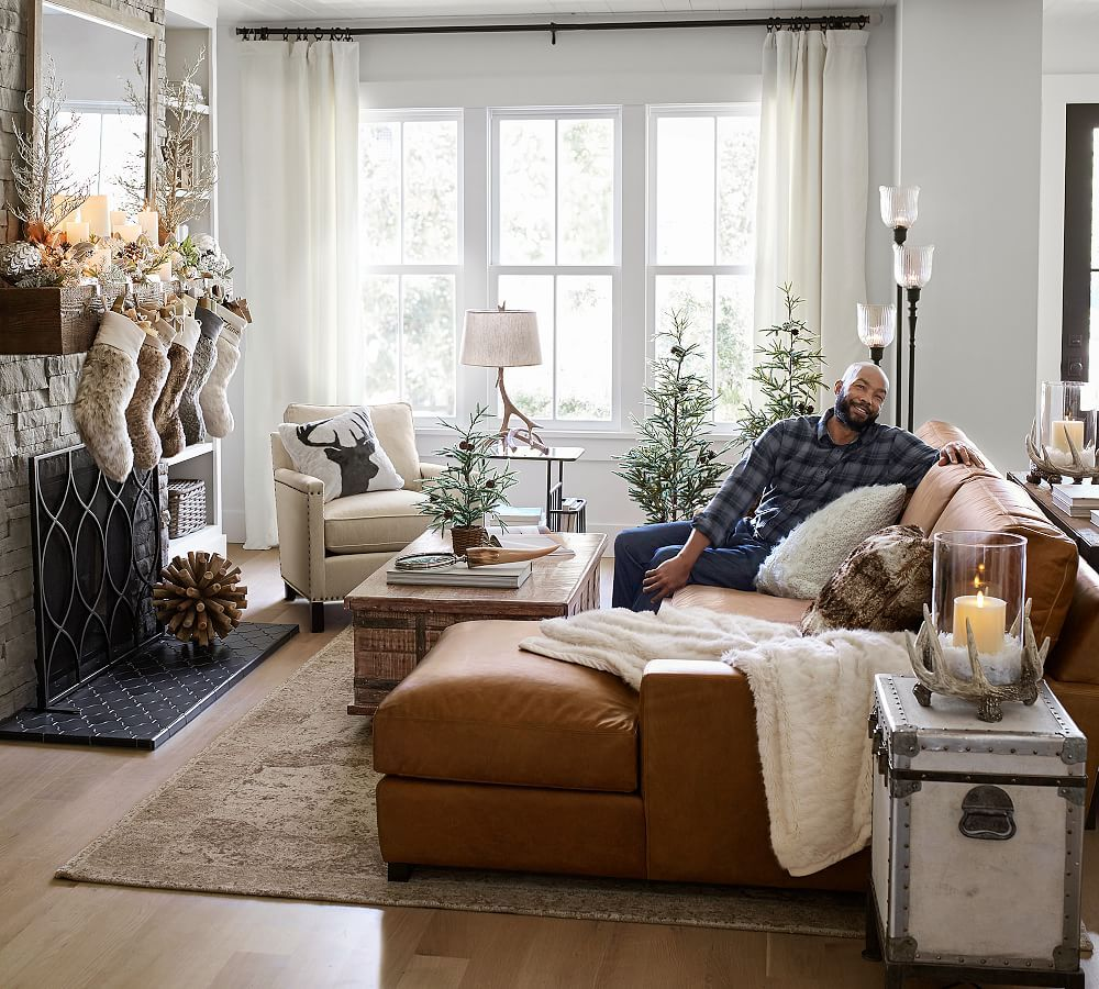 Tyler Upholstered Armchair Pottery Barn Leather Couches Living