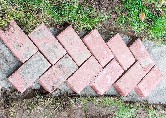 Photo of DIY Herringbone Brick Garden Path HOW TO GUIDE