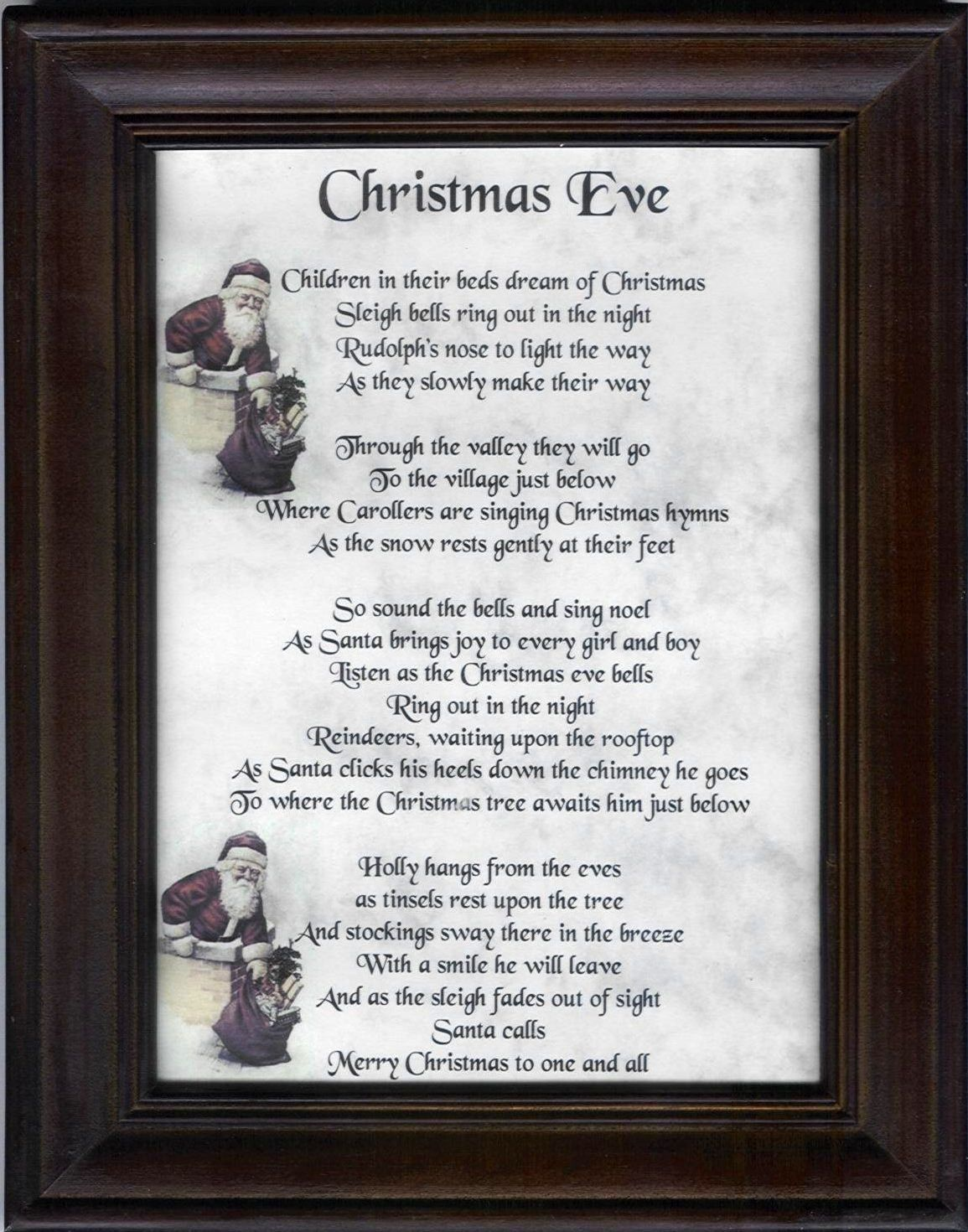 Christmas Eve poem | Holidays | Pinterest | Christmas eve, Holidays ...