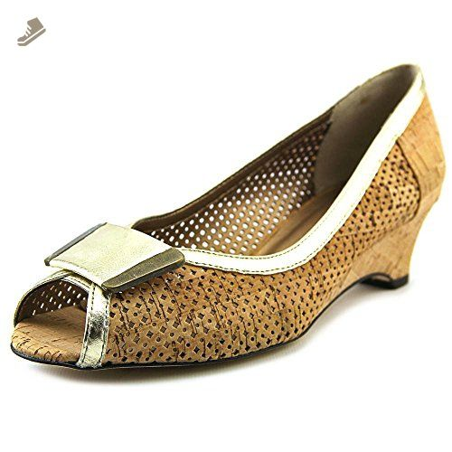 Womens Shoes Vaneli Bonnee Natural Cork/Platino Met Nappa