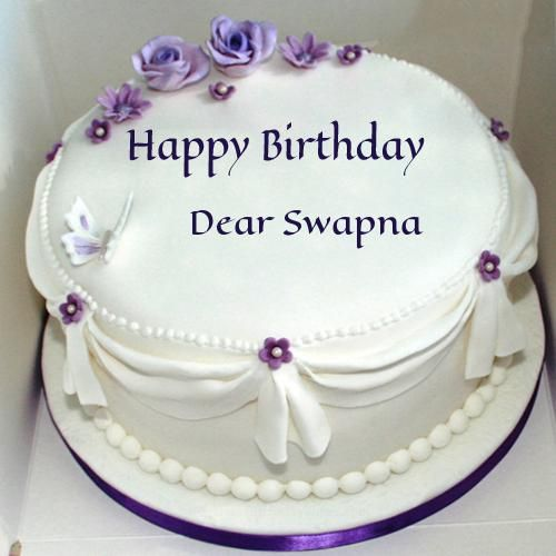 Write Name On Violet Roses Birthday Cake For Wife bday cakes
