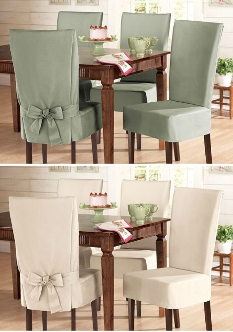 Sure Fit Cotton Dining Chair Slip Cover From Collections Etc Slipcovers For Chairs Dining Room Chair Covers Home Decor Catalogs