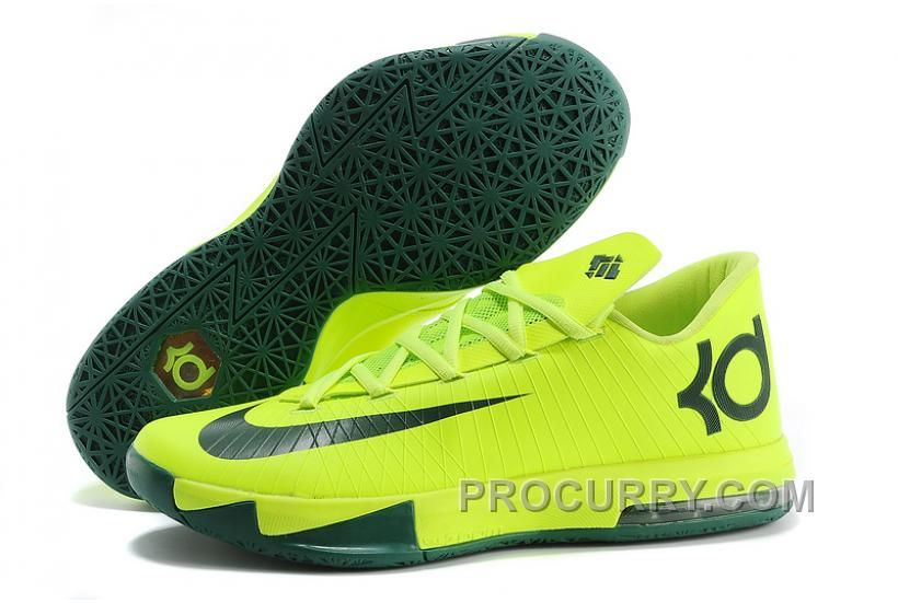 buy online 3220b a9c30 Nike Kevin Durant KD 6 VI Neon Green Dark Green For Sale Hot, Price   93.00  - Stephen Curry Shoes Under Armour Store Online