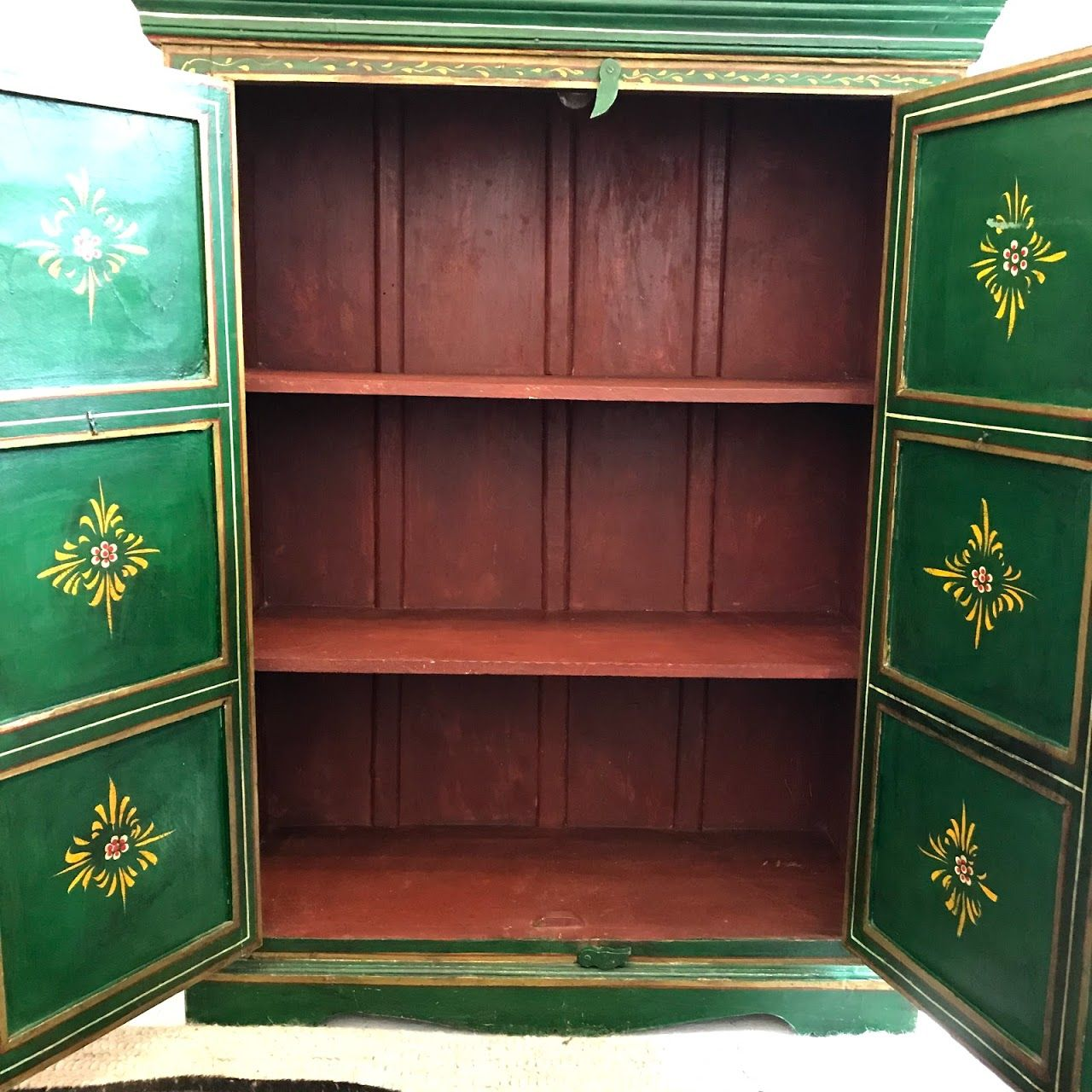 Hand Painted Cabinet