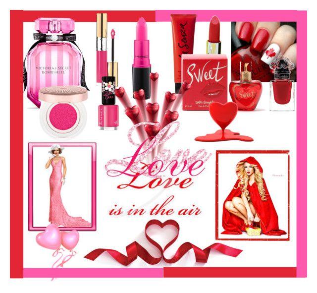 """""""Love is in the air!!"""" by jaja8x8 on Polyvore featuring beauté, Victoria's Secret, La Senza, MAC Cosmetics, Lolita Lempicka, Yves Saint Laurent, Rimmel, Par Avion Tea, Pink et red"""