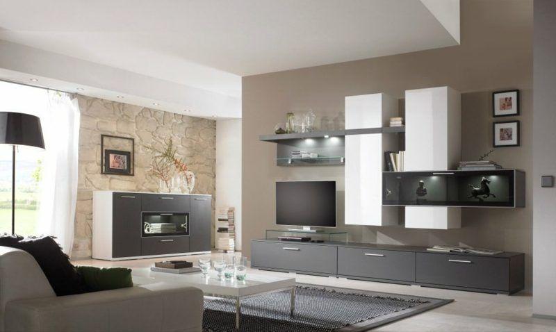 ... Wohnzimmer Farblich Gestalten 40+ Moderne Vorschläge Und Tipps   Wohnzimmer  Ideen Wand Streichen Grau ...