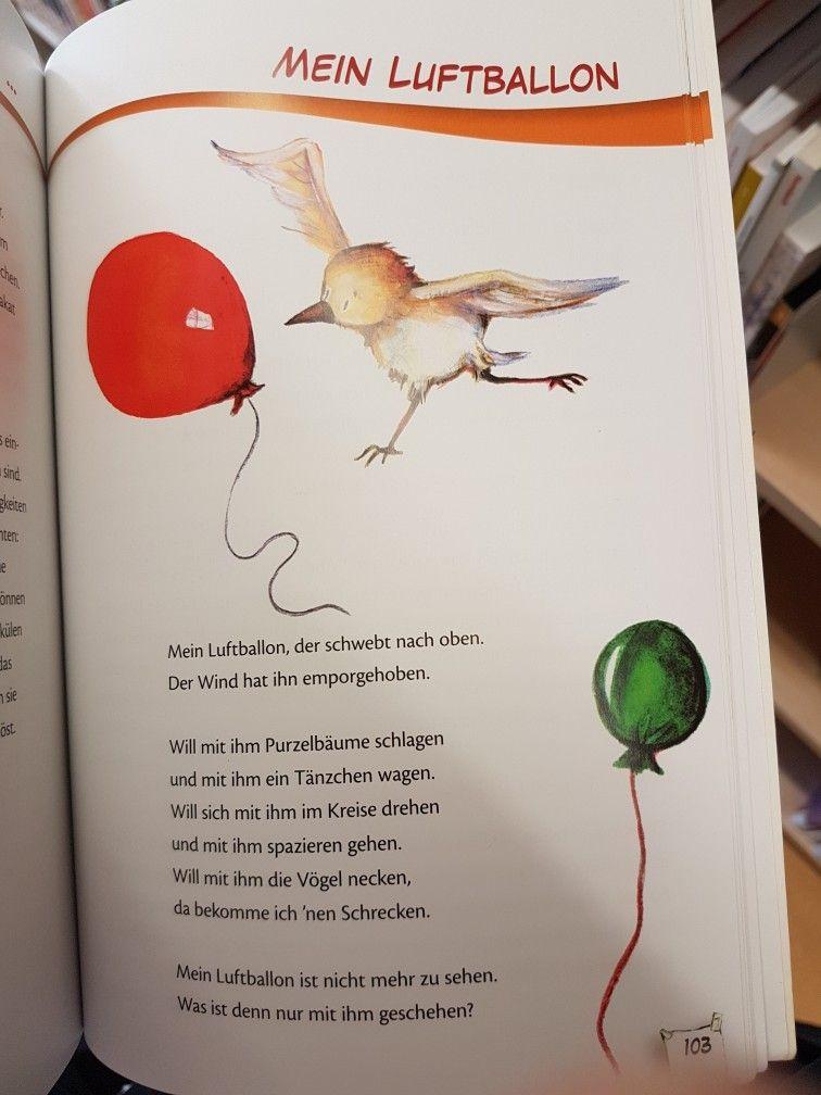 Mein Luftballon #kindergarten #erzieher #reim #gedicht #kita #krippe ...