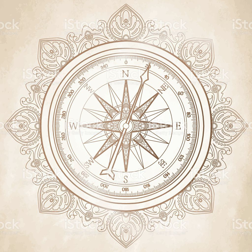 Graphic wind rose compass royalty free stock vector art