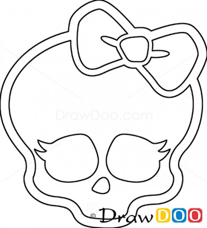 How to Draw Logo Monster High Amelia Birthday Pinterest