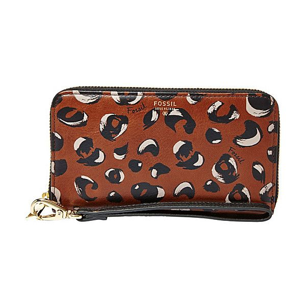 Fossil Sydney Zip Phone Wallet Women's ($70) ❤ liked on Polyvore featuring bags, wallets, black, ladies small wallets, ladies wallets, black zip bag, black wallet, zipper bag, fossil bags and black zipper bag