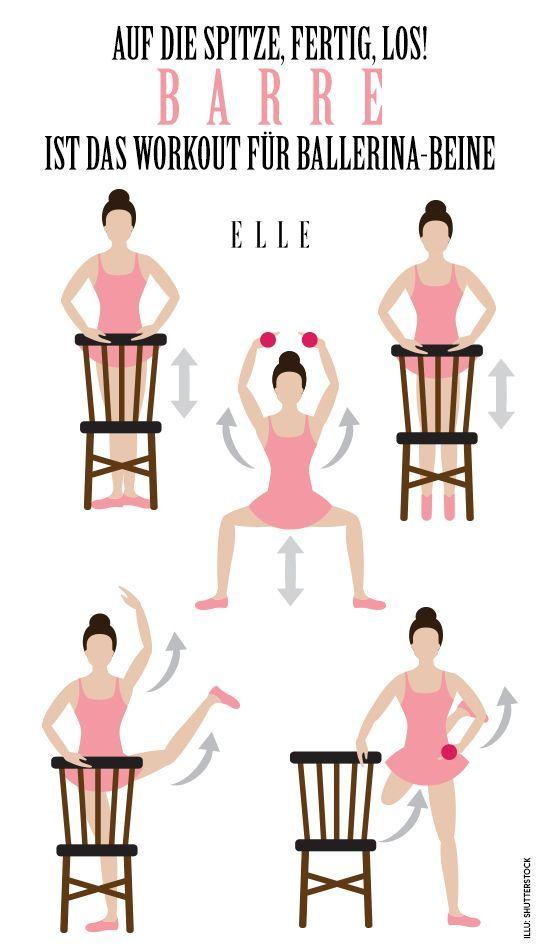Barre Workout: Das Training für Ballerina-Beine #balletfitness Wer auch gern die Beine einer Balleri...