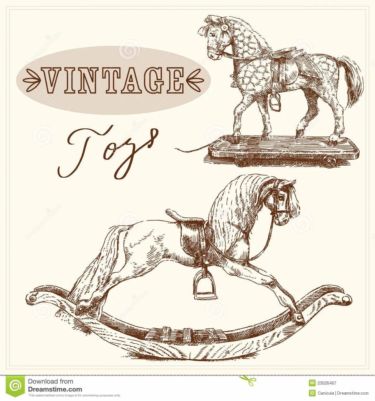 рисунок коня в ретро стиле: 14 тыс изображений найдено в ...