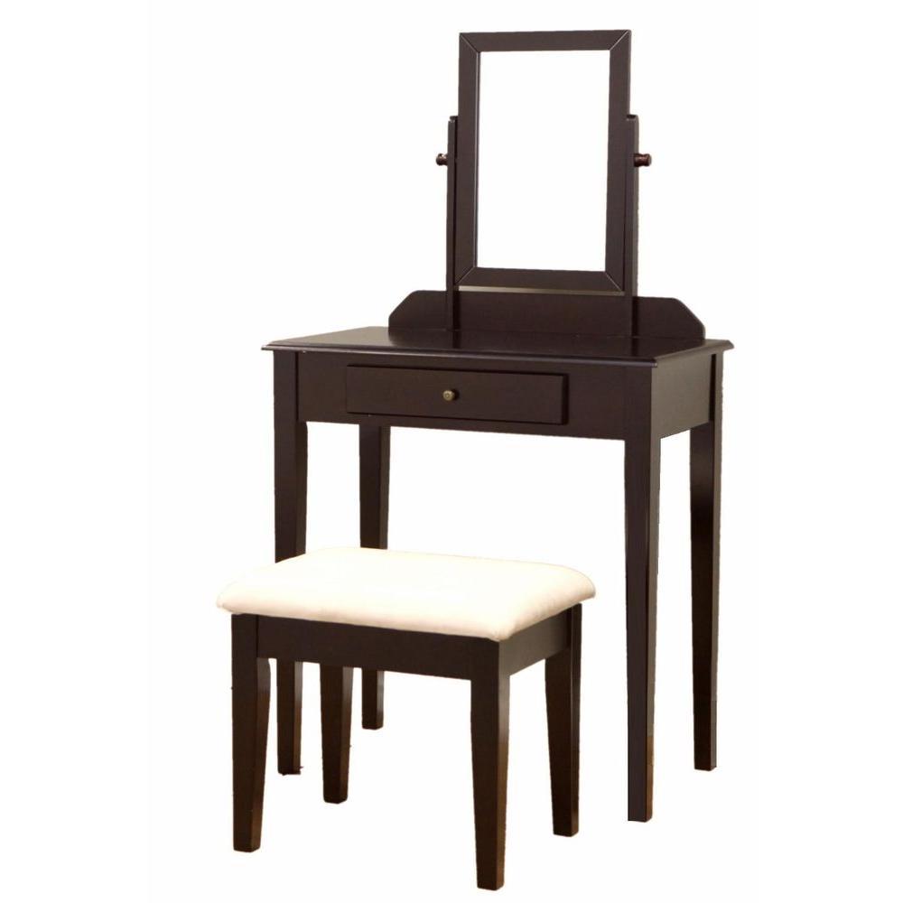 Homecraft Furniture 3 Piece Expresso Vanity Set Brown Bedroom