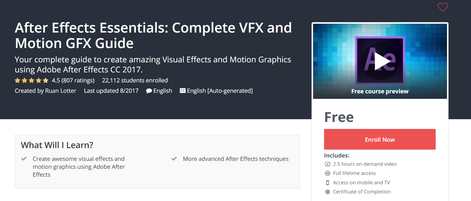 After #Effects #Essentials: #Complete #VFX and #Motion #GFX #Guide