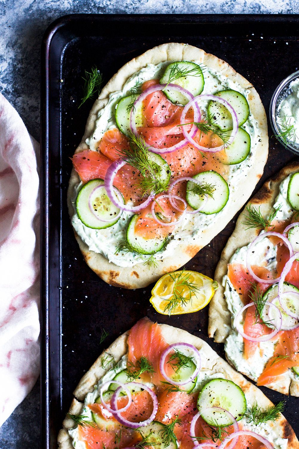 Easy Lox And Herbed Cream Cheese Naan Pizzas My Diary Of Us Healthy Eating Meal Plan Healthy Eating Recipes Breakfast Recipes Easy