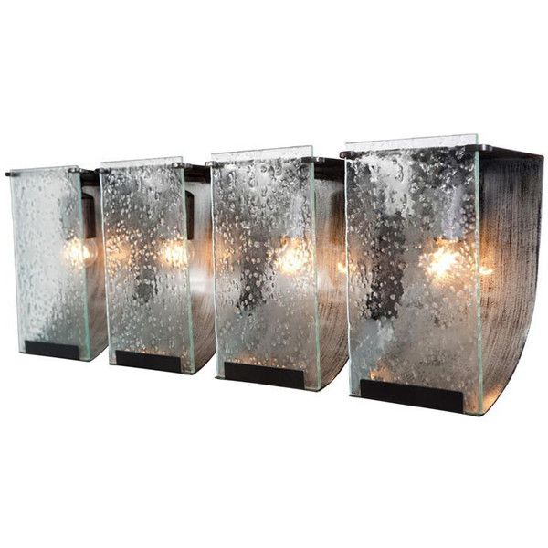 Varaluz Rain Four Light Bath Sconce ($469) ❤ liked on Polyvore featuring home, lighting, wall lights, multicolor, four light, beaded lamp, varaluz, colorful lamps and colorful lights