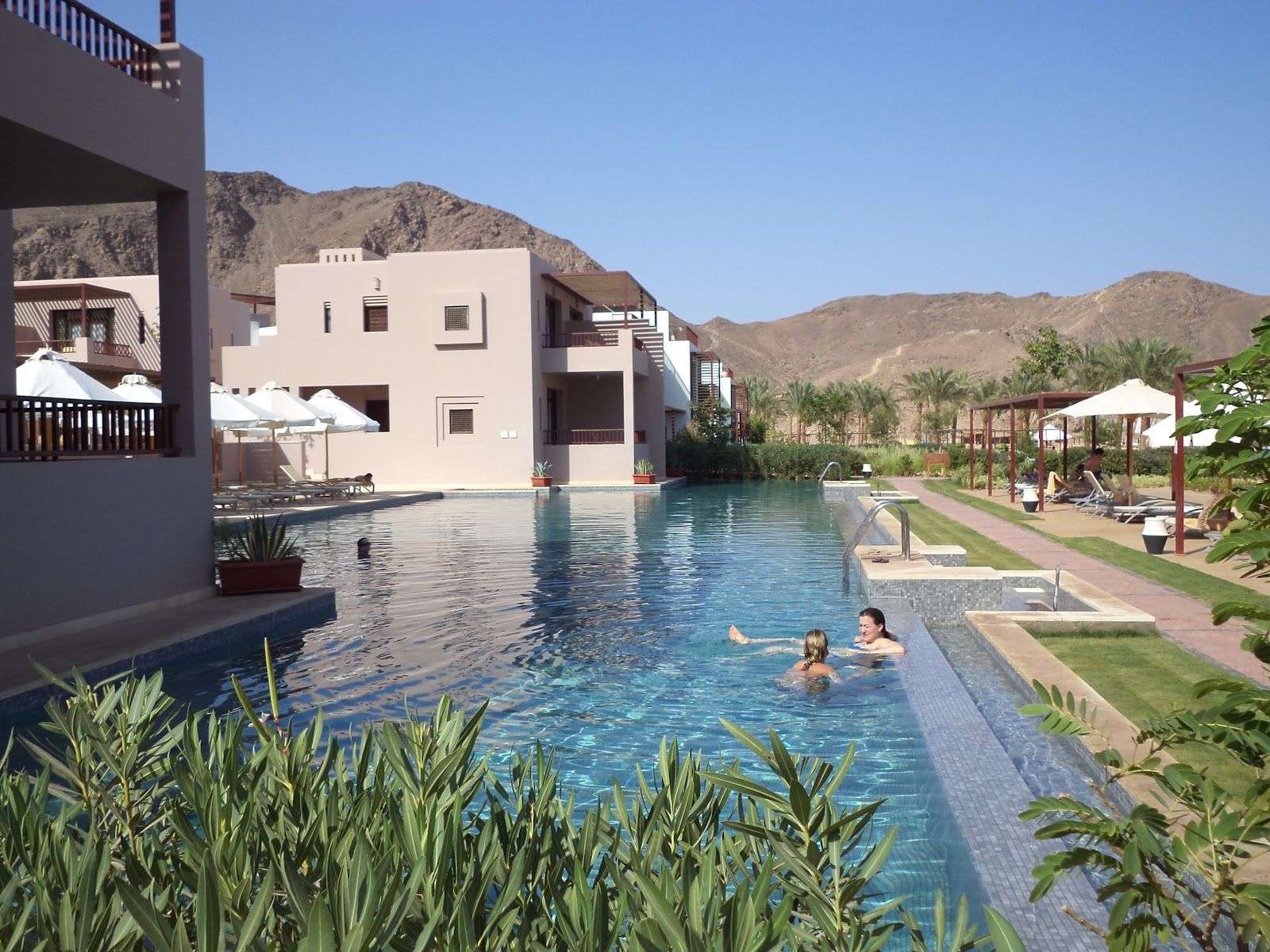 Zout Water Zwembad Zoutwaterzwembad Club Med Sinai Bay Taba Egypte Egypt