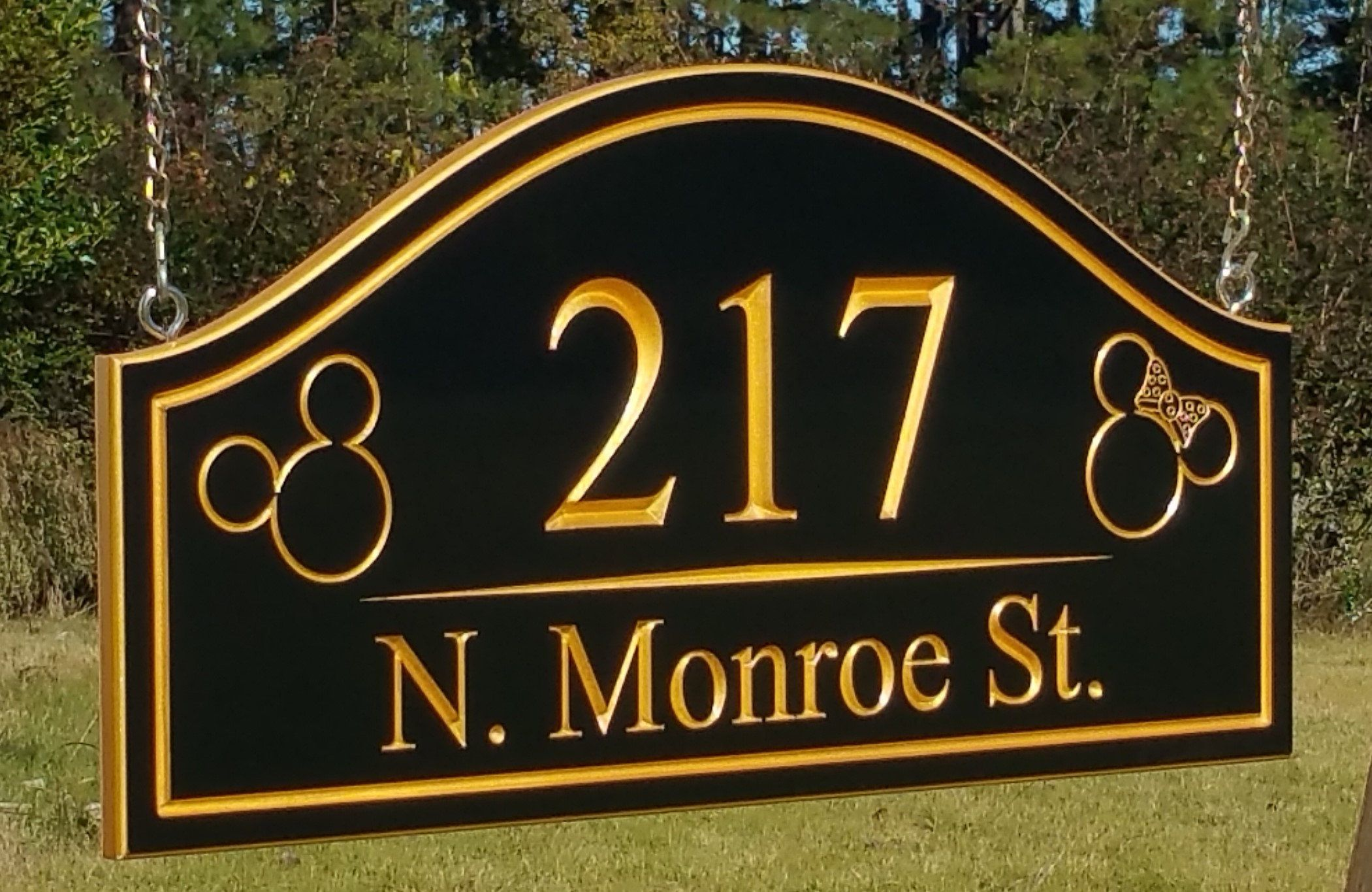 Double Sided Hanging Lamp Post Mailbox Street Address Sign