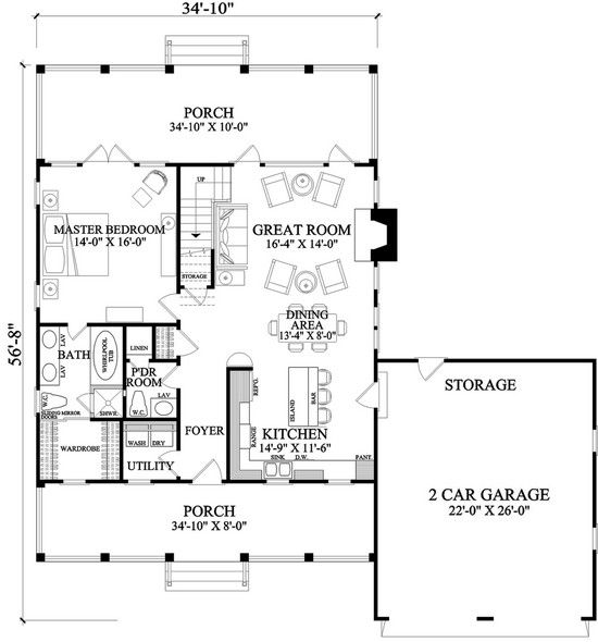 House Plan 7922 00072 Country Plan 1 738 Square Feet 3 Bedrooms 2 5 Bathrooms Country Farmhouse House Plans Cottage Plan House Plans Farmhouse