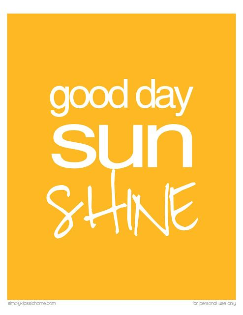 Good Day Sunshine Printable {Ready 4 Summer Crafts & Printables Party & Linky} - Yellow Bliss Road