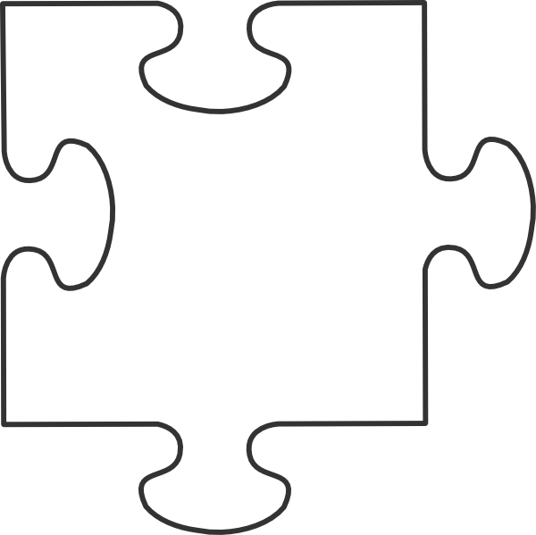 Large Blank Puzzle Pieces White Puzzle Piece Clip Art Puzzle Piece Template Puzzle Crafts World Autism Awareness Day