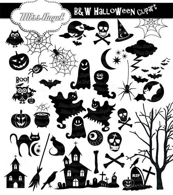 Halloween Silhouettes Clip Art 34 Black Halloween Clipart 6