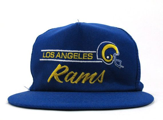 b15e6a83 Vintage 1980s Los Angeles Rams Trucker Hat Snap Back | Products I ...