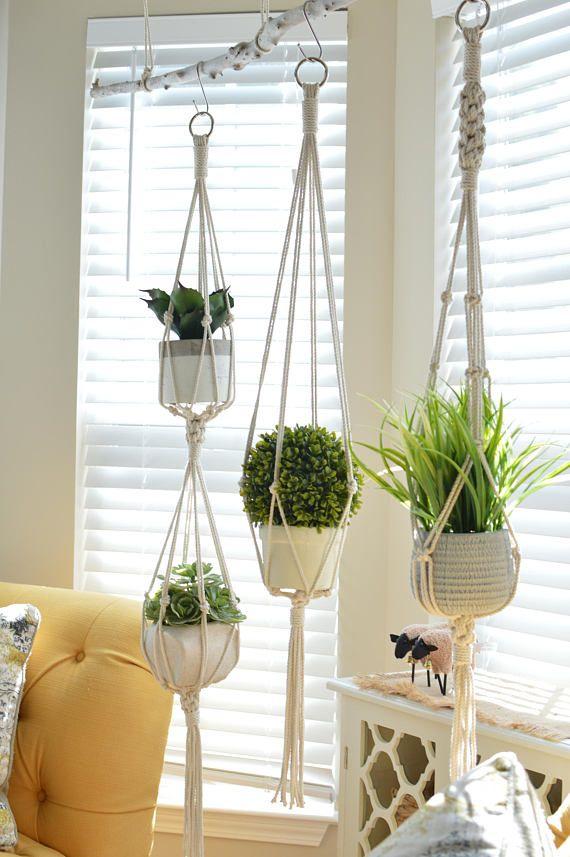 Double Hanging Planter Indoor Garden Hanger Indoor Hanging