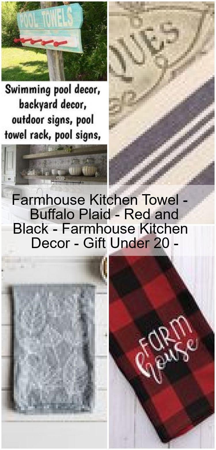 Farmhouse Kitchen Towel Buffalo Plaid Red And Black Farmhouse Kitchen Deco Black Buffalo Kitchen Decor Gifts Farmhouse Kitchen Decor Kitchen Towels
