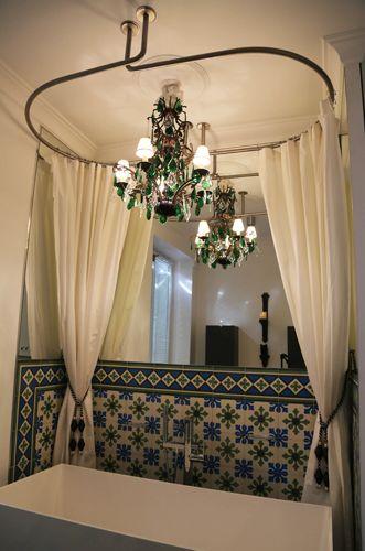 Barre Rideau De Douche Ovale Plafond Galbotwins Interior