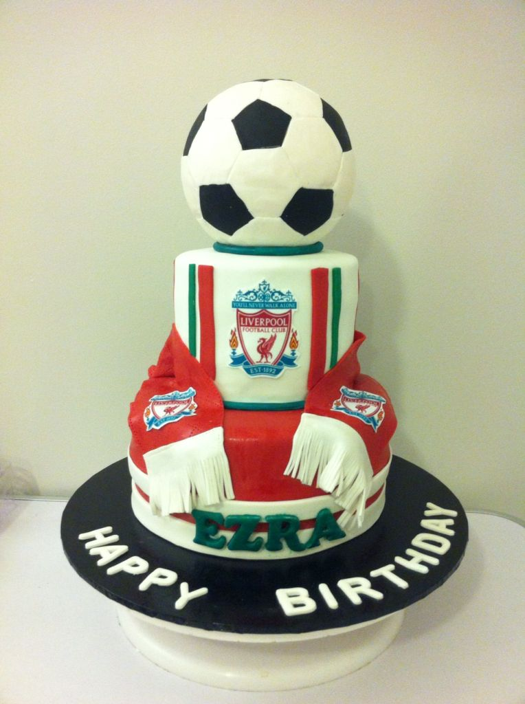 Canning Vale Football Birthday Cake Football Cake Liverpool Cake