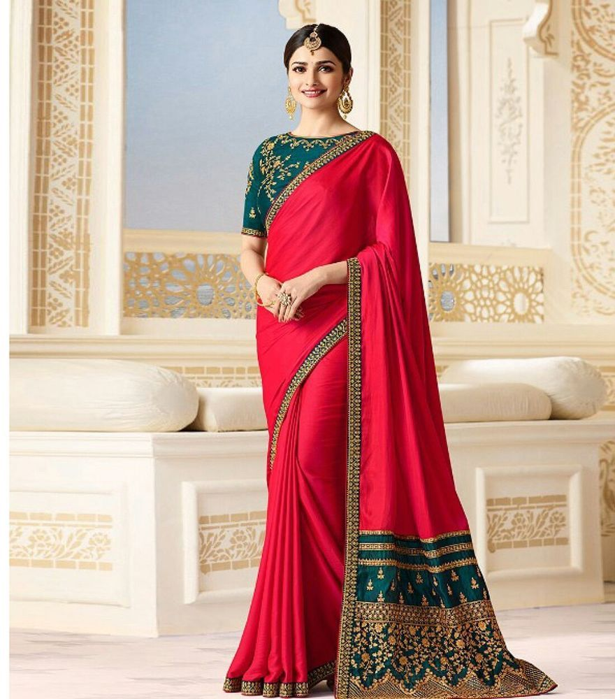 New Year Wedding Saree Party Wear Sari Georgette 2018 Festival