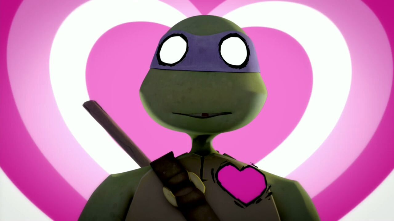teenage mutant ninja turtles 2012 donatello in love with