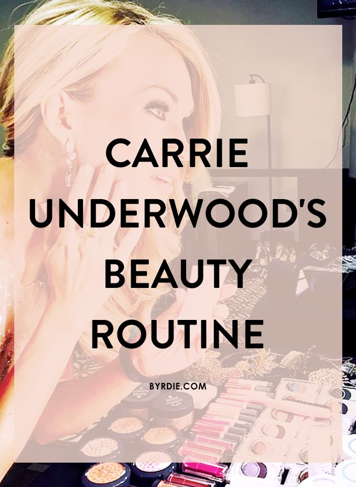 Exclusive: Carrie Underwood on Sushi Face, Smoky Eyes, and More #beautysecrets