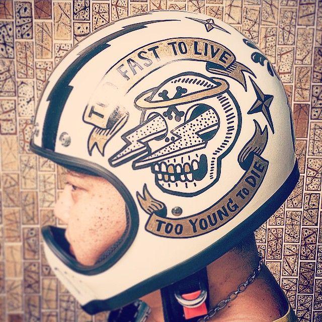 Custom Helmet Custom Helmets Cafe Racer Helmet Vintage Helmet