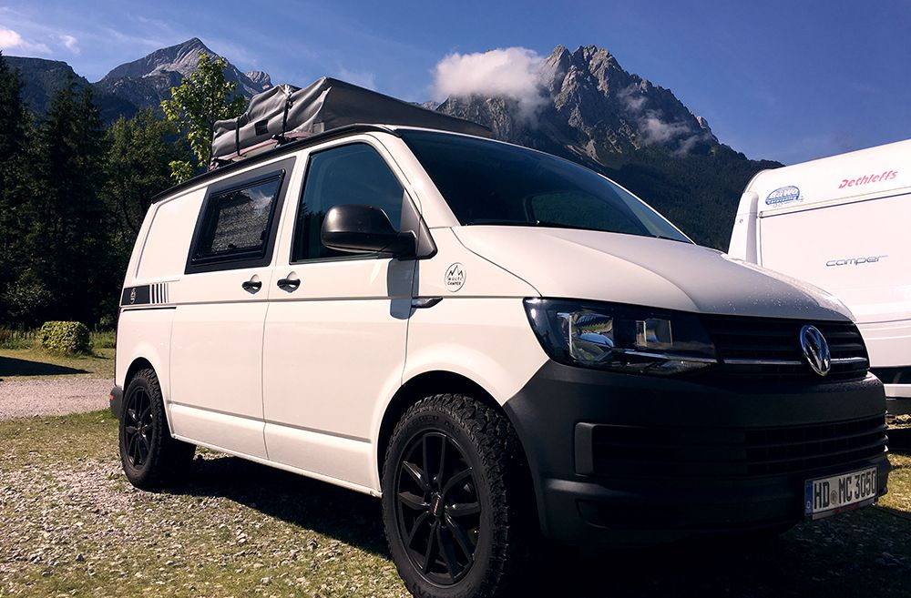 standard alloys but painted black vw t5 offroad t5 t6 camper campingbus und vermietung. Black Bedroom Furniture Sets. Home Design Ideas