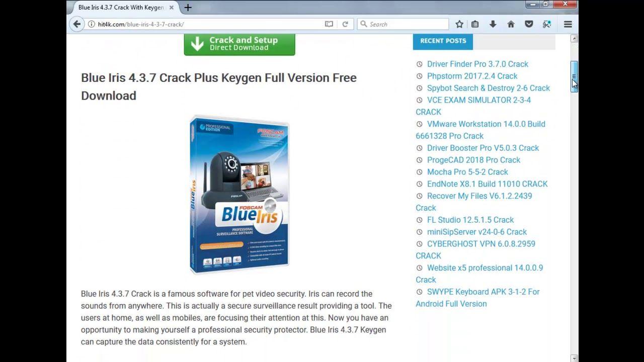 Blue Iris 4 6 2 1 Crack With Keygen Ful Version Free