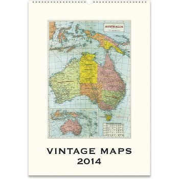 2014 cavallini vintage maps wall calendar how cool is this 2014 cavallini vintage maps wall calendar how cool is this gumiabroncs Choice Image