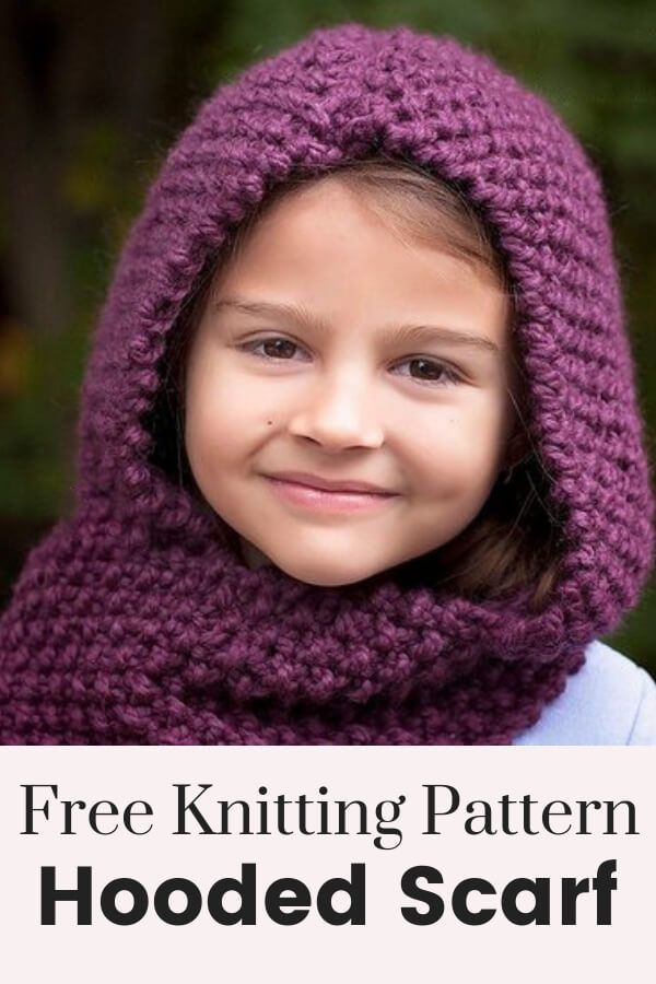 Hooded Scarf Knitting Pattern Craft And Diy Projects Crafty